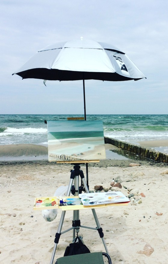 Pleinair am Meer